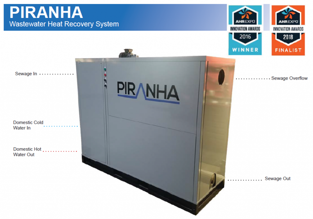 PIRANHA - SHARC Wastewater Heat Recovery System