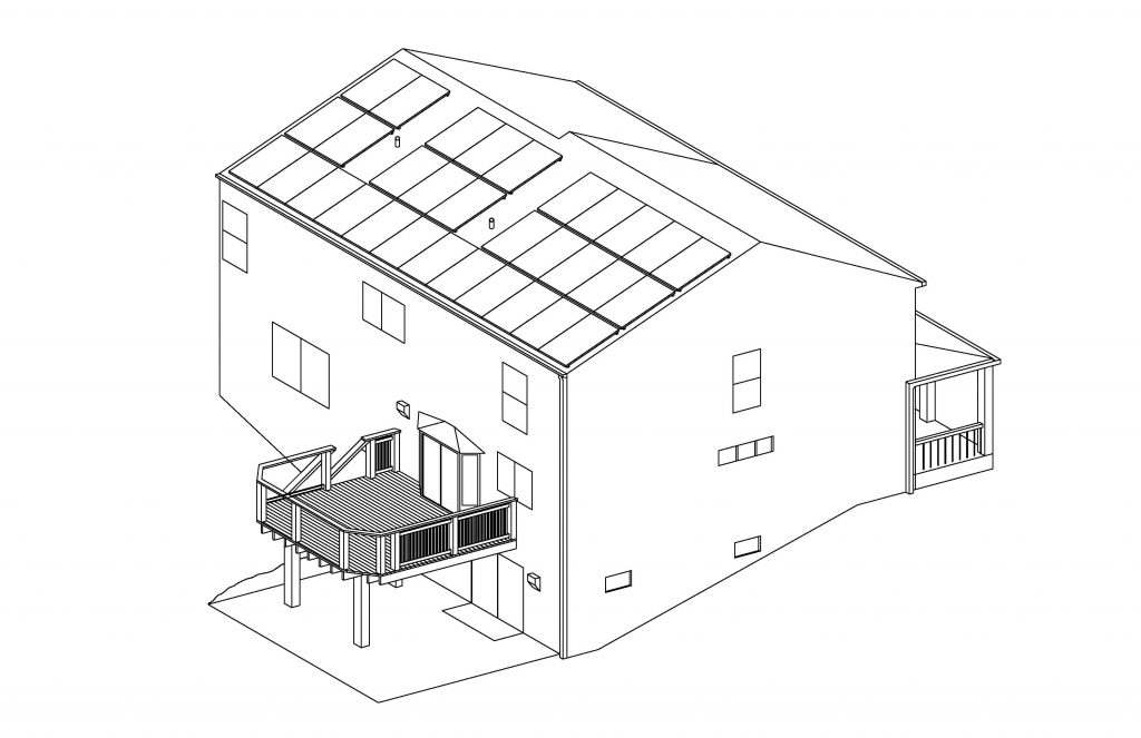 Home solar panel CAD drawing by Jason Brown