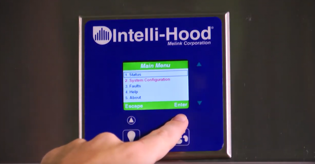 Intelli-Hood touchpad menu navigation