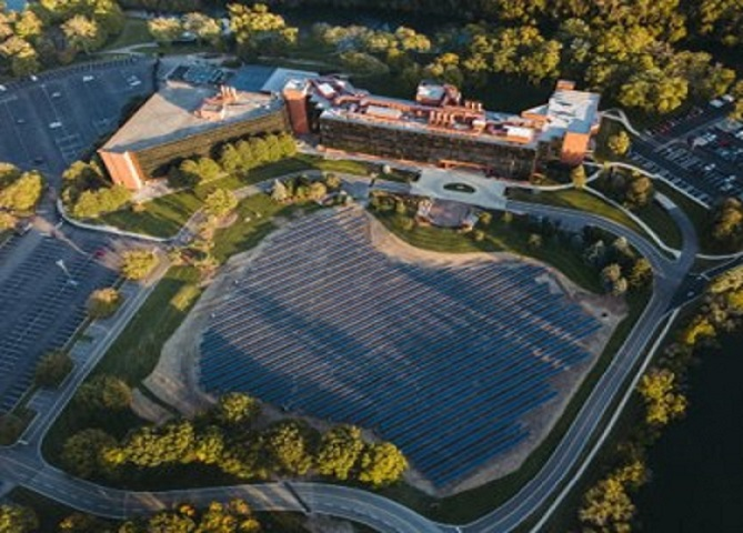University of Dayton ground-mounted solar array installed by Melink Solar